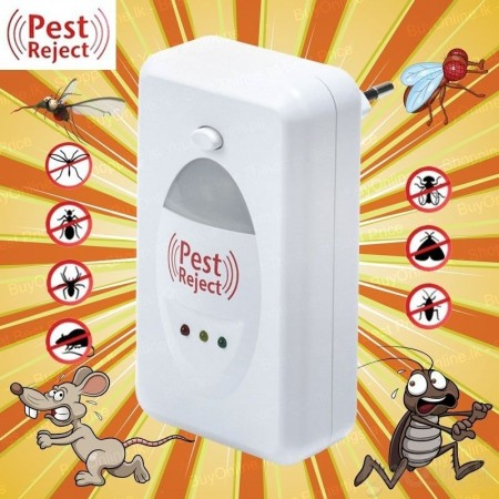 Ултразвуков уред за контакт против насекоми и гризачи Pest Reject