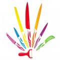 Швейцарски комплект кухненски ножове с керамично покритие