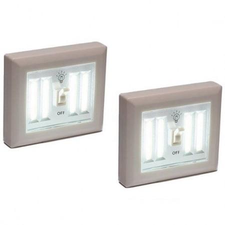 LED лампа захранваща се от батерии с 40 диода