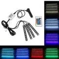 4 бр. светодиодни ленти с 8 цвята и дистанционно за интериорно осветле