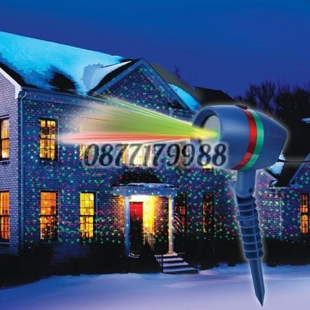 Лазерен прожектор излъчващ многобройни фигурки