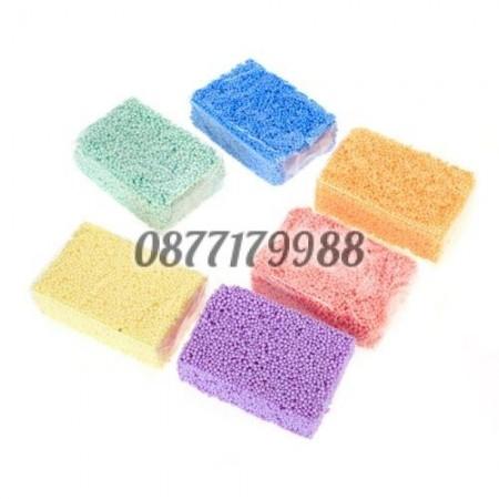 Кинетична пяна в бонбонени цветове 6 бр. в опаковка