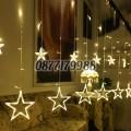 Коледни лампички звезди LED светлини 168 диода