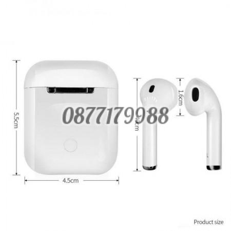 Безжични слушалки i12 TWS Bluetooth 5.0 с тъч контрол и 3D звук